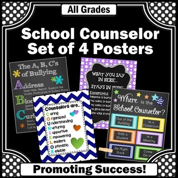 Where is the School Counselor Door Sign, Counseling Office Decor Posters