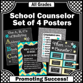 Where is the Counselor Sign Turquoise & Yellow Confidentiality Poster