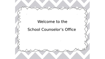 School Counselor Office Sign