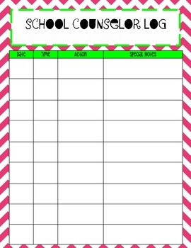 School Counselor Organization Pack: Pink & Green