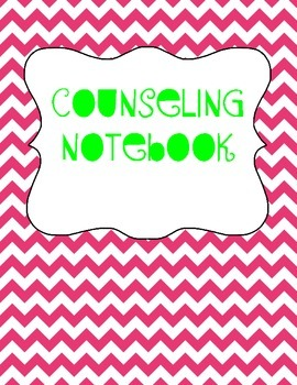 School Counselor Organization Pack: Pink & Green