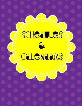 School Counselor Organization Pack: Purple & Yellow