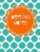 School Counselor Organization Pack: Turquoise & Orange