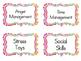 School Counselor Organizational Bin Labels