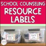 School Counselor Organizational Bin Labels