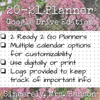 School Counselor and School Specialists 2018-2019 Planner