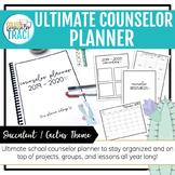 School Counselor Planner 2019 - 2020 (Cactus Succulent Theme)