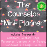 School Counselor Planner  and Forms (Mini Edition)