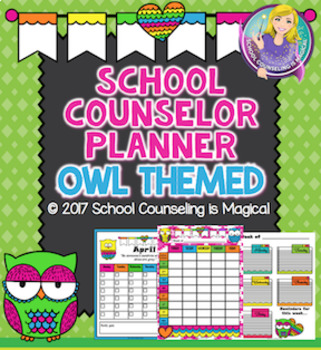 School Counselor Planner: Owl Themed