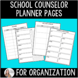 School Counselor Planner Pages (editable so you can customize!)