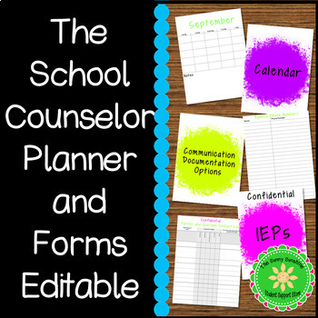 School Counselor FOREVER Planner and Forms (Rainbow Dash Splash)