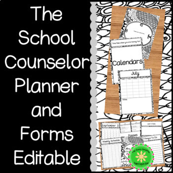 School Counselor Planner and Forms Zen Doodle (By Request)