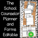 The Editable School Counselor Planner and Forms Zen Doodle