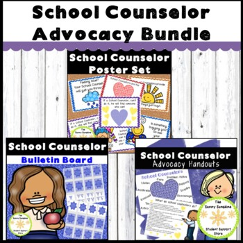 School Counselor Posters and Handout Bundle