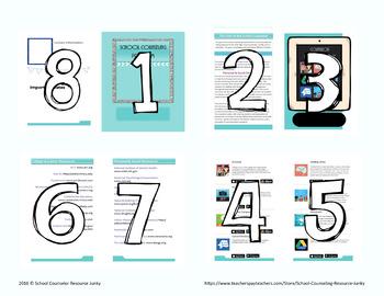 School Counselor Program Informational Brochure *Editable Template*