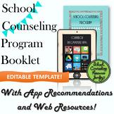 School Counselor Informational Program Brochure *Editable Template*