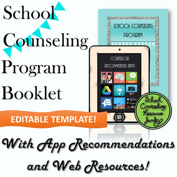 School Counselor Informational Program Brochure *Editable Template*