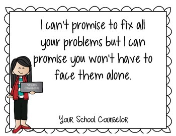 School Counselor Quote Posters