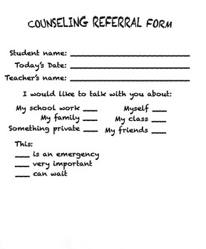 School Counselor Self-referral form