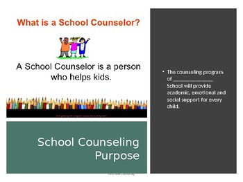 School Counselor Staff Presentation Of Services