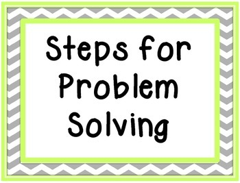 School Counselor Steps to Problem Solving SIgns