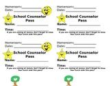 School Counselor Student Pass Template