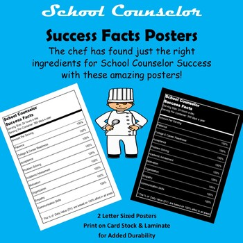 School Counselor Success Nutrition Themed Poster Set