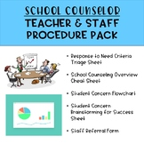 School Counselor Teacher & Staff Procedure Pack [EDITABLE]