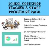 School Counselor Teacher & Staff Procedure Pack [EDITABLE]