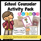 School Counselor's August Activity Pack