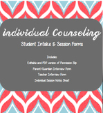 School Counselor,Individual Counseling Forms