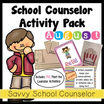 School Counselor's August Activity Pack- Savvy School Counselor
