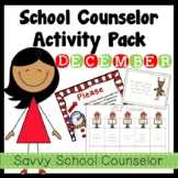 School Counselor's December Activity Pack
