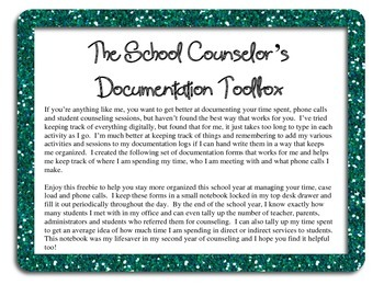 School Counselor's Documentation Toolbox