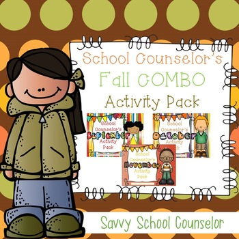 School Counselor's Fall COMBO Activity Pack