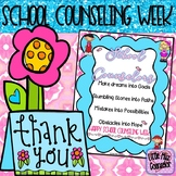 School Counseling Week Poster with Inspirational Poem