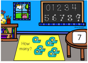 School Count Pics to 9 Digital Task Cards