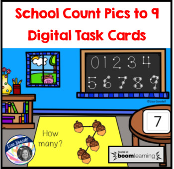 School Count Pics to 9 Digital Task Cards for Special Education