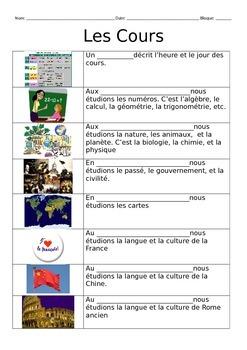School Courses Vocabulary Notes