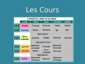 School Courses Vocabulary PPT