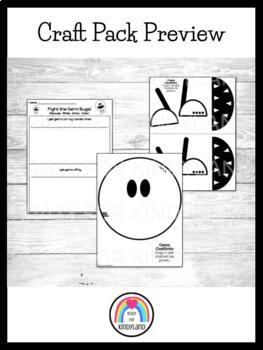 School Crafts and Writing Value Pack 1: Bag,Tree,Germ,Bus,Senses,Feelings,Name