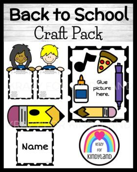School Crafts and Writing Value Pack: 5 Senses Frame, Pencil, Kids, Raccoon