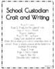 Community Helpers Craft and Writing: School Custodian