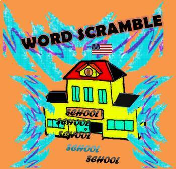 School DAYS (Unscramble Words) Activity
