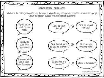 Social Skills for autism: School Day Conversations