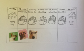 School Day * Home Day Chart for Preschoolers