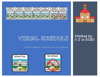 School Day/Non-School Day Visual Schedule
