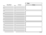 School Day Planner Page for Teachers