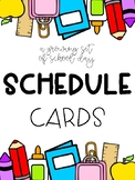 School Day Schedule Cards