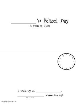School Day Time Mini Book